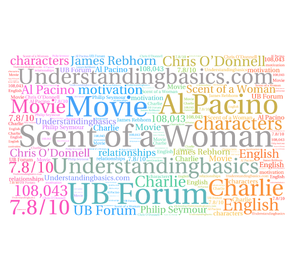 movie analysis scent of a woman Scent of a woman is a remake of the 1972 italian film profumo di donna in addition to pacino's award,  write a customer review see all 246 customer reviews.